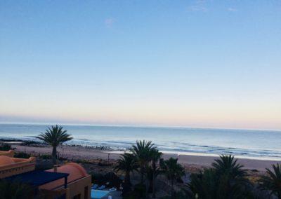 retraite yoga Agadir - vue paradis plage
