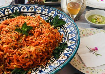 maki végétarien et salade pomme carotte-stage-naturopathic-yoga-baie-de-somme-detox-vegetale