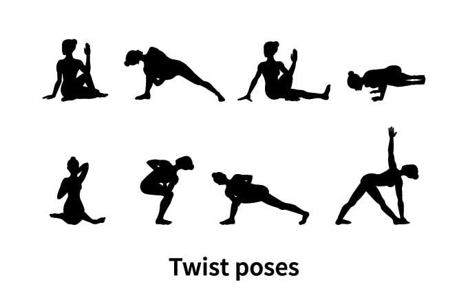yoga torsions et detox - postures de yoga detox