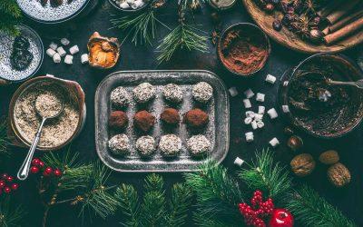 Truffes vegan surprise au chocolat noir pour Noël