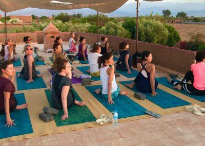 retraite stage yoga jeune et detox marrakech maroc