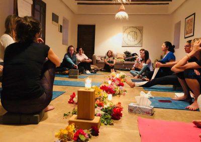 retraite stage yoga jeune - groupe de paroles yogi