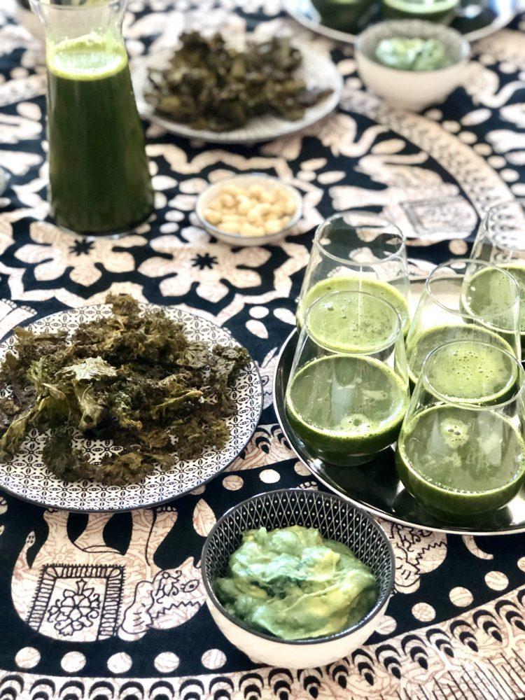 jus vert apéritif healthy - detox